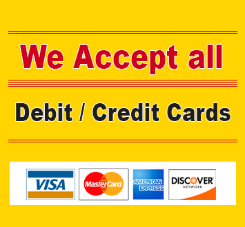 we accept all debit cards / credit cards